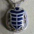 Hall marked Egyptian Pharaonic Silver Pendant,Scarab,Isis,Eye of Horus,Nefertiti