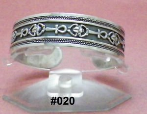 Hall marked �صر Egyptian Egipto �гипе� �gypten Pharaoh Silver Decorated Bracelet