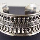 Hall marked Egyptian Silver Bracelet, 925 Sterling exodized Silver, Bedwian Desi