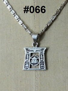 "Hall marked Egyptian Pharaonic Silver Pendant "" Scarab "" Variety"