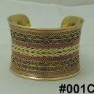 Handmade Egyptian Bedouin Siwa Vintage Brass costume Jewelry One Cuff Bracelet