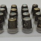 Lot of 24 Egyptian Pharaoh Brass Dedal Thimble ,Cleopatra,Tut ,Nefertiti ,Scarab