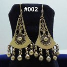 Hand Made Egyptian Ägypten Bedouin Siwa costume Jewelry Earrings , Brass Ethnic