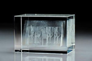 ASFOUR the finest Crystal Figurines 3D ,Pharaoh Items, Sphinx, Tut , Abu Sombul