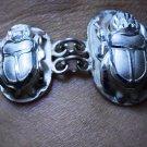 Hallmark Egyptian Pharaoh Silver Cuff Bracelet, Scarabs
