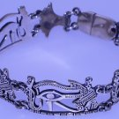 Hallmark Fascinating Egyptian Silver Cuff Bracelet Nefertiti Eye of horus