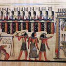"Egyptian Papyrus  HandMade Painting,size 20x60cm (4""x24"") Judgement Day US#244"