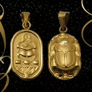 Fascinating Hallmark 18 K. Gold charm pendant Egypt Pharao's Luck Scarab 1.88 G.