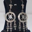 Hallmark Egyptian,Египет Ägypten Pharaonic,Authentic Silver Earrings,variety