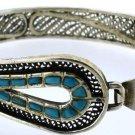 Hallmark Egypt Египет Ägypten Pharaoh Silver Bracelet , Ankh and Turquoise