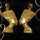 Fascinating Egypt HallMark 18 K. Gold pendant Charm Egypt Pharao Queen Nefertiti