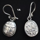 Hallmark مصر Egyptian Pharaoh,Authentic Silver Earrings Eye Horus,Scarab,Variety