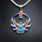 Hallmark Egypt Pharaoh Sterling Silver Winged Scarab Pendant Charm 4 Colors