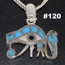 Hallmark Egyptian, Pharaonic, Authentic Silver Pendant, Eye of Horus, Variety