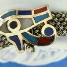 Hallmark Egypt Ägypten Pharaoh Silver Cuff Bracelet Eye of Horus