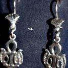 Hallmark Egyptian,Pharaonic,Authentic Silver Earrings,Scarab,Ankh Baduian Tribal