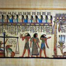 "Egyptian Papyrus  HandMade Painting size 60x120cm 24""x48""Judgement Day US #244"