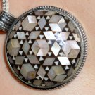 Hallmark Egyptian Silver Pendant Charm decorated with Mother of Pearl
