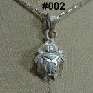 Hallmark Egyptian Pharaonic Silver Pendant ,Scarabs variety