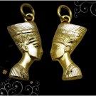 Fascinating Egypt HallMark 18 Karat Gold Charm pendant Pharao Queen Nefertiti #2