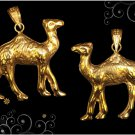 Spice Things Up Egyptian Hallmark 18 K. Gold charming pendant  Elegant  Camel