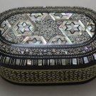 Egyptian. Islamic Mother of Pearl Mosaic Inlaid Wood Jewelry Box , Handmade