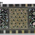 Egyptian. Islamic Mother of Pearl Mosaic Inlaid Wood Jewelry Box ,Handmade