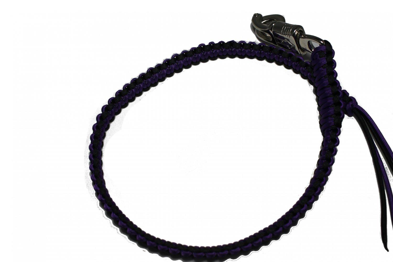 biker whip black and purple
