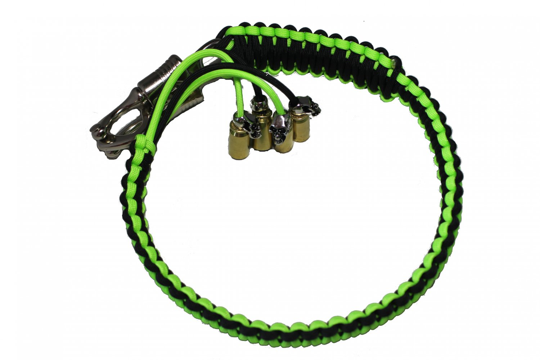 "Biker Whip 36"" Black Neon Green"