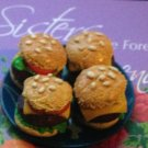 6x Miniature OOAK Bratz/Barbie/Blythe/Monster High/Volks/Obitsu Cheeseburgers