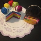 Miniature Rainbow Macaroon Cake For Barbie/Bratz/MonsterHigh/Obitsu/Volks/Blyth