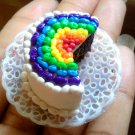 Miniature OOAK Barbie/Bratz/MonsterHigh/Blythe Size Inside Out Rainbow Cake