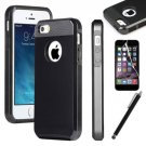 Black Hybrid Shockproof Hard Rugged Heavy Duty Cover Case For Apple iPhone 6 4.7""