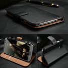 For Apple iPhone 5C Genuine Real Leather Flip Wallet Case Cover