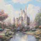 "Cinderella castle - inspirated to Kinkade - 35.43"" x 26.43"" - Cross Stitch Pattern Pdf C547"