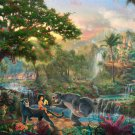 "The book of jungle - inspirated to Kinkade - 35.43"" x 23.89"" - Cross Stitch Pattern Pdf C473"