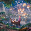 "Tangled Disney - inspirated to Kinkade  - 35.43"" x 23.86"" - Cross Stitch Pattern Pdf C540"