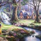 "Snow white - inspirated to Kinkade - 35.43"" x 23.79"" - Cross Stitch Pattern Pdf C602"