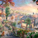 "Lady and the tramp - inspirated to Kinkade - 35.43"" x 23.93"" - Cross Stitch Pattern Pdf C577"