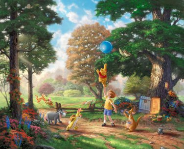 "Winnie the Pooh II - inspirated to Kinkade  - 35.43"" x 28.57"" - Cross Stitch Pattern Pdf C463"