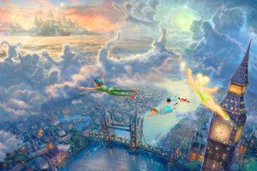 """Peter Pan - inspirated to Kinkade - 39.36"""" x 26.29"""" - Cross Stitch Pattern Pdf C611"""