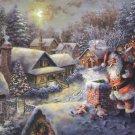 "Santa Klaus - inspirated to Kinkade - 35.43"" x 22.14"" - Cross Stitch Pattern Pdf C345"