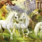 "Unicorns - inspirated to Kinkade - 35.43"" x 19.93"" - Cross Stitch Pattern Pdf C200"