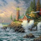 "The lighthouse - inspirated to Kinkade - 35.43"" x 26.57"" - Cross Stitch Pattern Pdf C655"