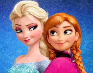 "Princesses Anna & Elsa - 19.71"" x15.57"" - Cross Stitch Pattern Pdf C322"