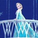 """Princess Elsa pose Frozen - 12.57"""" x 27.07"""" - Cross Stitch Pattern Pdf C326"""