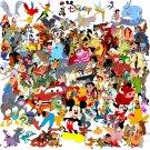 "All character of Disney - 35.43"" x 35.43"" - Cross Stitch Pattern Pdf C007"