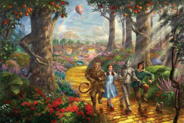 "Yellow road Oz wizard - inspirated to Kinkade - 35.43"" x 23.79"" - Cross Stitch Pattern Pdf C556"