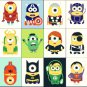 "Minions superheroes - 19.71"" x 19.07"" - Cross Stitch Pattern Pdf C251"
