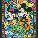 "Disney Mickey in a hot air balloon - stained glass - 19.71"" x 28.36"" - Cross Stitch Pattern Pdf C728"